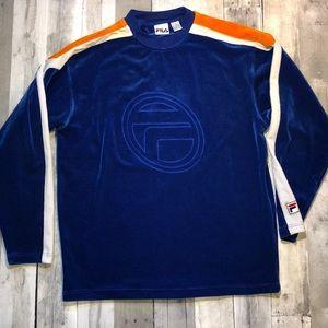 Vintage Fila velvet Long Sleeve Shirt/pullover